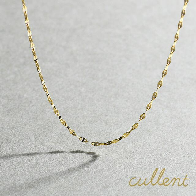 ロングネックレス K18ロングネックレス foliole chain 60