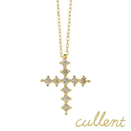 K18ダイヤモンドネックレス star cross