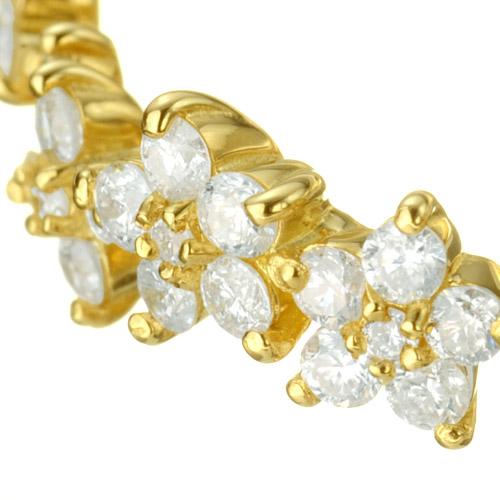 K18 diamond ring K18 ダイヤモンド リング flower bed