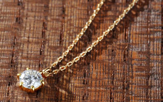 K18 diamond necklace float 0.2ct
