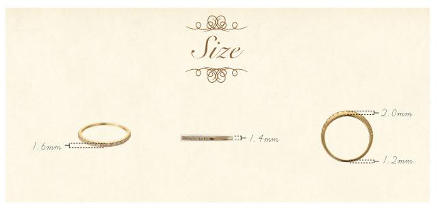 K18 diamond ring glorious 0.2ct