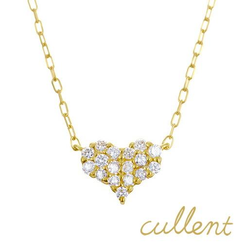 K18 ダイヤモンド ネックレス pave heart