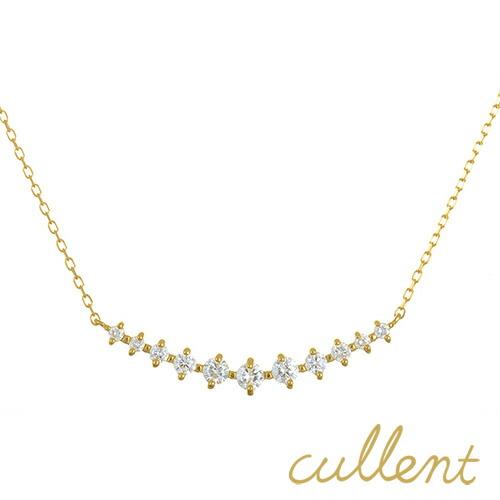 ラインネックレス K18 ダイヤモンド ネックレス star line 0.5ct