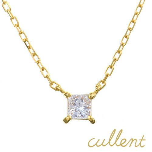 K18 ダイヤモンド ネックレス princess