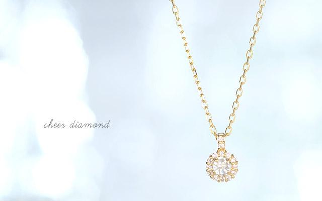 K18 diamond necklace K18 ダイヤモンド ネックレス cheer