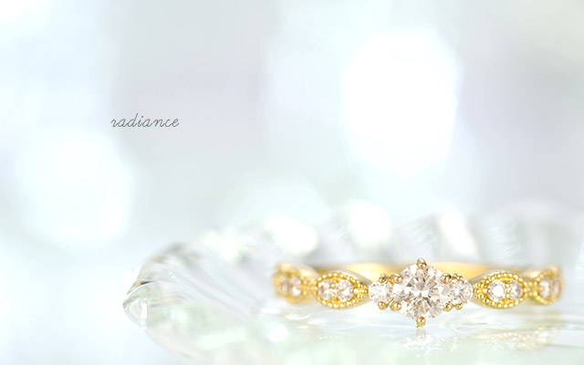 K18 ダイヤモンド リング radiance