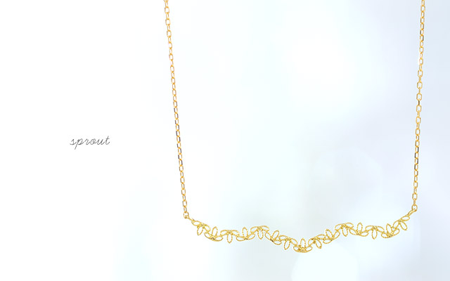 K18 necklace  K18ネックレス sprout