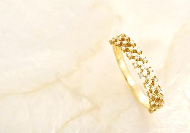 K18ダイヤモンドリング joint