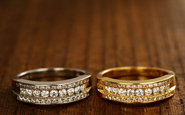 K18 diamond ring axis