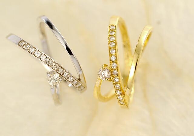 K18 diamond ring creeper