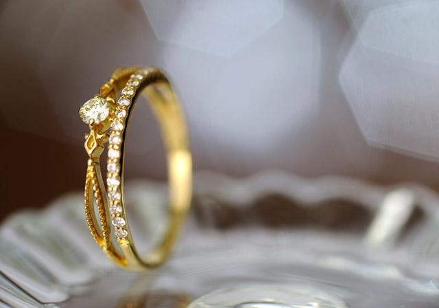 K18 diamond ring island