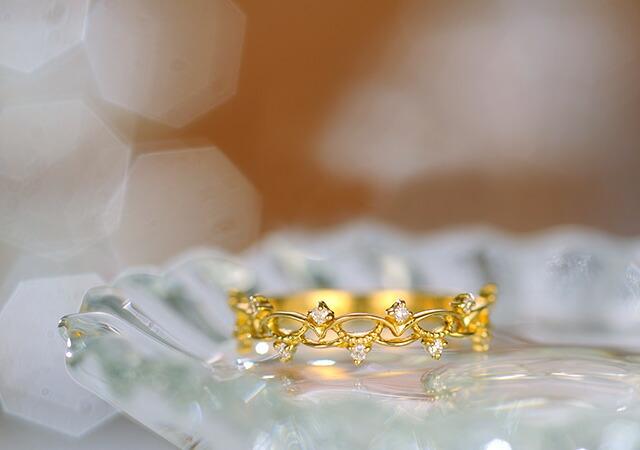 K18 diamond pinkyring briar