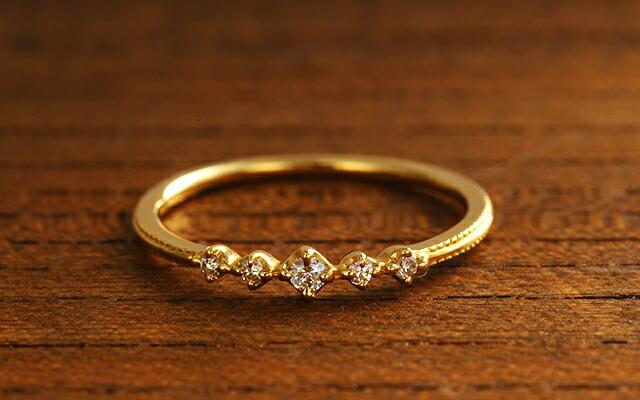 K18 diamond ring meek