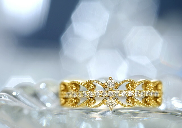 K18 diamond ring celestial
