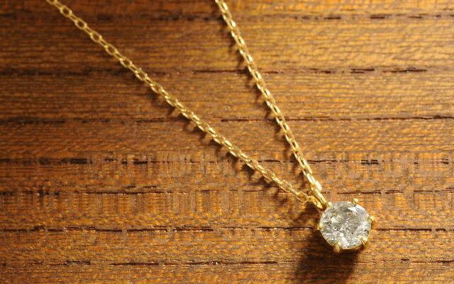 K18 diamond necklace float 0.5ct