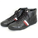 MONCLER middle cut leather sneakers MONTECARLO 999 black 2014 / 15 winter new MONCLER Monte Hyatt 0042600 02850 999 men's shoes