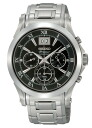 SEIKO pull Mie men watch chronograph black silver SCJE001
