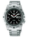Seiko mechanical Seiko 5 sports mens automatic hand-wound watch black SARZ001 [free size]
