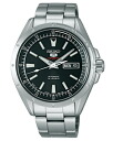Seiko mechanical Seiko 5 sports mens automatic hand-wound watch black SARZ005 [free size]