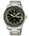 Seiko mechanical Seiko 5 sports mens watch automatic hand-wound movement black gold SARZ008 [free size]