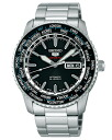 Seiko mechanical Seiko 5 sports mens automatic hand-wound watch black SARZ007 [free size]