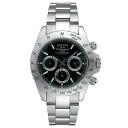 Clock / technos men's watch technos ダイバーズメンズウォッチ chronograph with watch silver black letter Edition TGM615SB [size adjustment free: fs3gm