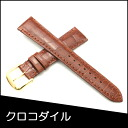 Belt watch band crocodile watch band warriors (Musou) soles material Croc BAMBI Mens Watches 19 mm Brown watch for Bambi watch belt Bambi watch band