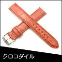 Watch belt watch band crocodile watch band BAMBI mens 18 mm Orange watch for Bambi watch belt Bambi watch band