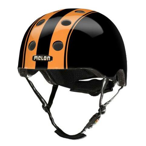 メロンヘルメット ダブルオレンジブラック