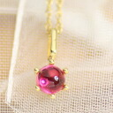 4 Mm pink tourmaline cabochon milk Crown pendant