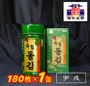 Woo-Seong Korea Nori ( luxury natural bamboo salt rock Glue ) 1 can (180 8切) ( 八切 type is plenty of about 180 copies )-Korea Nori-