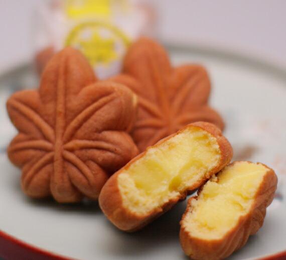 【楽天市場】もみじ饅頭(クリーム) 6個入り:菓子司処 大国堂