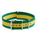 J.CREW Jay... crew Watch strap stripes watch strap (YELLOW JADE)