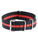 J.CREW Jay... crew Watch strap stripes watch strap (CHARCOAL/RED)