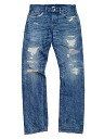 RRL STDM 2 LOW − STRAIGHT JEAN REPAIRED Lowe - straight jeans repaired (REPAIRED STAFFORD WASH)