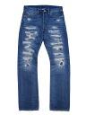 RRL STDM 2 SLIM-FIT JEAN REPAIRED STAFF OLD slim fit jeans repaired staff old (INDIGO)