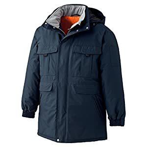 ミドリ安全 極寒 防水防寒コート ネイビー LL M4087-UE-LL [A061802]