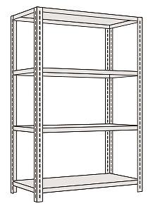 サカエ SAKAE 【代引不可】【直送】【別途送料】 軽量開放型棚ボルトレス KF1524 [A170809]