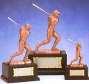 A trophy: Baseball bronze trophy batter (195mm in height)