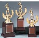 A trophy: Baseball bronze batter (235mm in height)