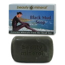 Same day shipment! ★25% of black mud content of the black mad Dead Sea! Not to mention oily skin! On pubertal skin in the trouble! It is convenient for a body not to mention face-wash! 120 g of beauty mineral Beauty Mineral (Dead Sea) black mad soaps
