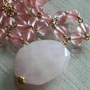 Cherry quartz Rose Quartz Necklace (r)