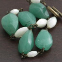 new / shell green aventurine bracelet