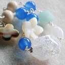 Crystal shell Moonstone Amazonite blue agate River stone bracelet