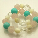 Bracelet of new Rose quartz and the amazonite