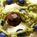 Bracelet of the new lapis lazuli Moore Kite hemp