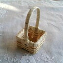 #805 white square baskets (the square small)
