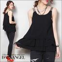 Wear cute! 3 frirtanktop / Womens tank top sleeveless rich tops DarkAngel / Dark Angel