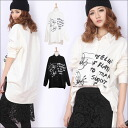 The impression that moderate just feeling likes! Character long sleeves shirt / Lady's long sleeves long sleeve character Mickey character blouse cut-and-sew black and white ■'s house nothing in the spring and summer■