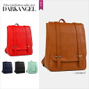 Every day you want to have simple design! Classical square Luc / women's backpack simple adult dress natural leather DarkAngel / Dark Angel
